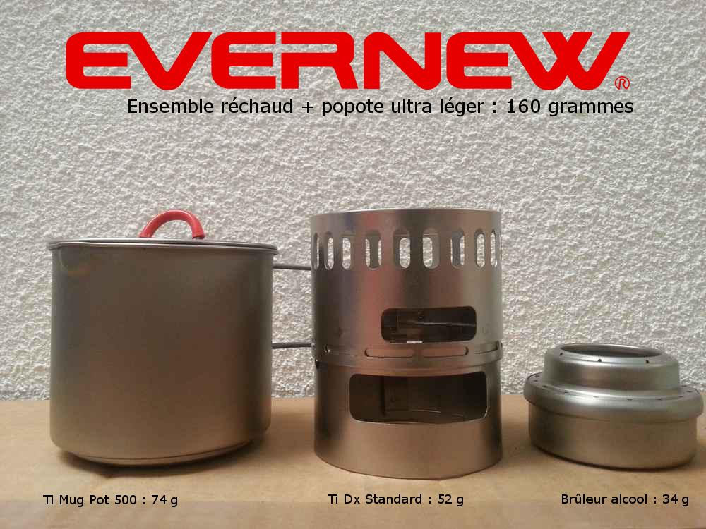 Réchaud à alcool Evernew