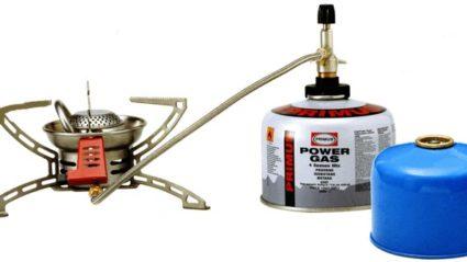 Réchaud à gaz avec valve duo compatible Campingaz
