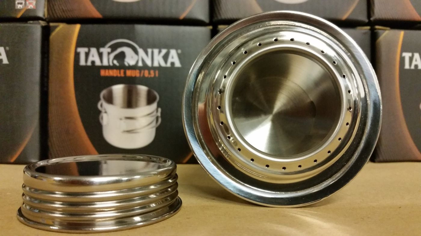 Brûleur à alcool Tatonka : en acier inoxydable