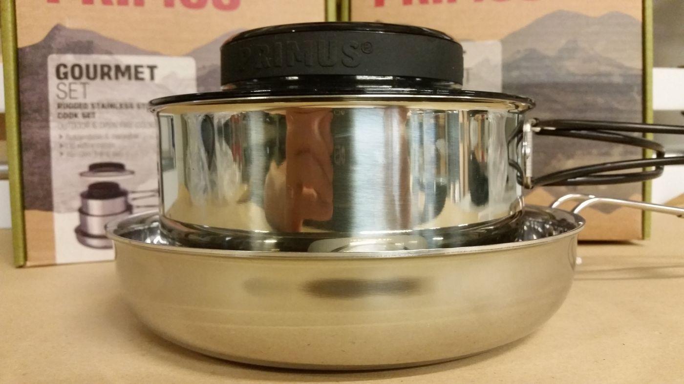 Casseroles Primus Gourmet Set en acier inoxydable