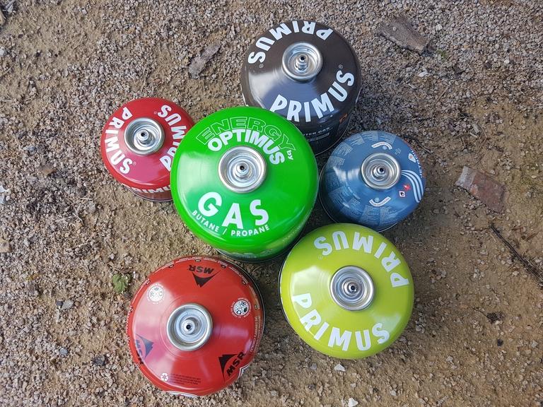 Cartouches de gaz EN 417 - Valve vissable (filetée) - Primus, Msr, Jetboil, Optimus