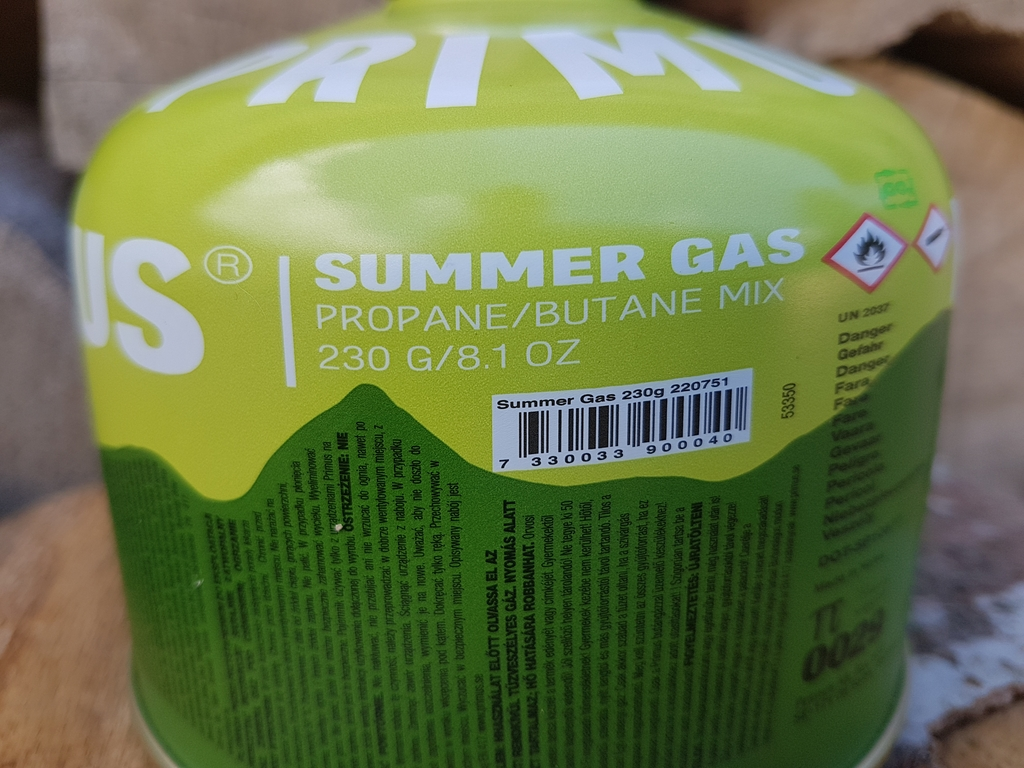 """Cartouche Primus Summer Gas : mélange Propane / Butane - Utilisation """"été"""""""